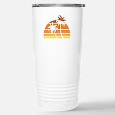 Vintage Beach Stainless Steel Travel Mug
