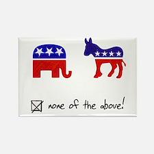 No Republicans or Democrats Rectangle Magnet