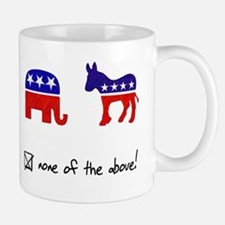 No Republicans or Democrats Mug