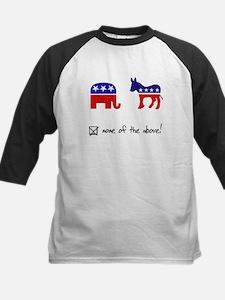 No Republicans or Democrats Kids Baseball Jersey