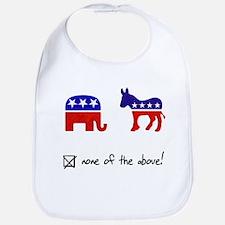 No Republicans or Democrats Bib