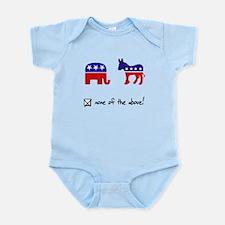 No Republicans or Democrats Infant Bodysuit