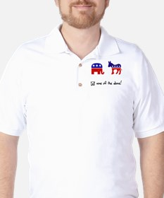 No Republicans or Democrats Golf Shirt