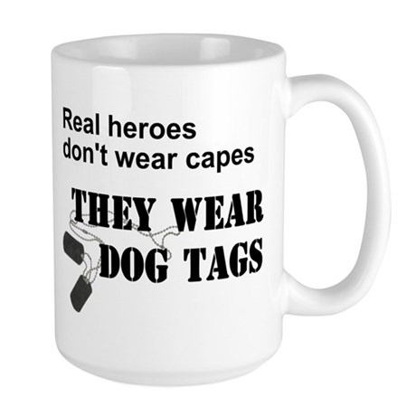 Real Heroes Don't Wear Capes Large Mug