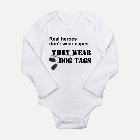 Real Heroes Don't Wear Capes Onesie Romper Suit