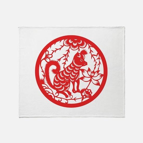 Dog Zodiac Throw Blanket