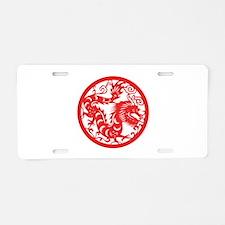 Dragon Zodiac Aluminum License Plate