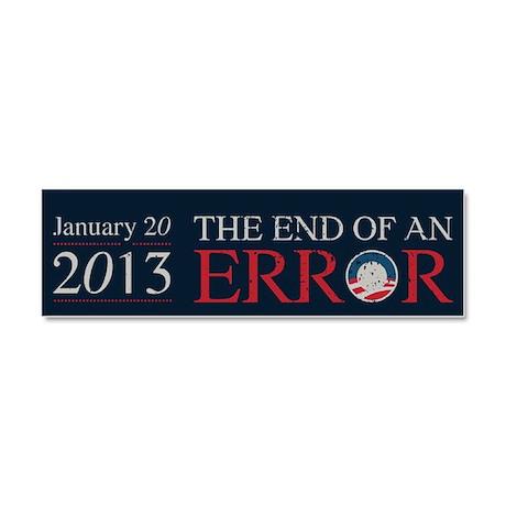 End of Error Car Magnet 10 x 3