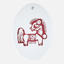 Horse Zodiac Ornament (Oval)