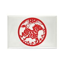 Horse Zodiac Rectangle Magnet
