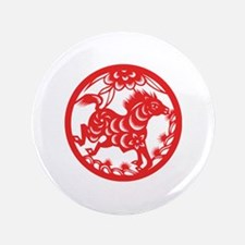 "Horse Zodiac 3.5"" Button (100 pack)"
