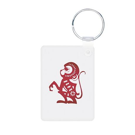 Monkey Zodiac Aluminum Photo Keychain
