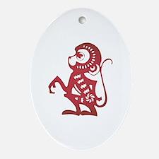 Monkey Zodiac Ornament (Oval)