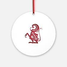 Monkey Zodiac Ornament (Round)