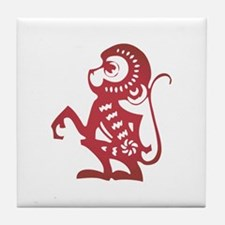Monkey Zodiac Tile Coaster