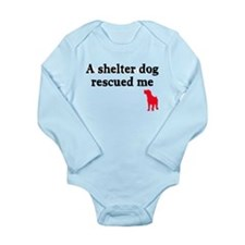 A shelter dog rescued me Long Sleeve Infant Bodysu