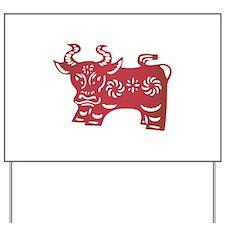 Ox Zodiac Yard Sign
