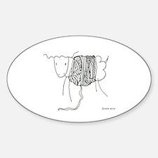 Woool Oval Decal