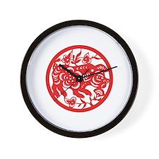 Pig Zodiac Wall Clock