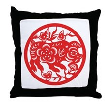 Pig Zodiac Throw Pillow