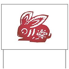 Rabbit Zodiac Yard Sign