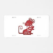 Rat Zodiac Aluminum License Plate
