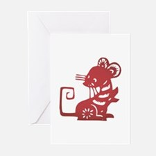 Rat Zodiac Greeting Cards (Pk of 20)