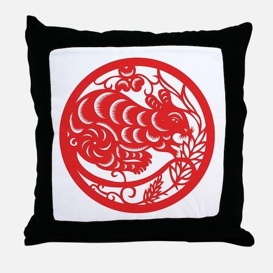 Rat Zodiac Throw Pillow