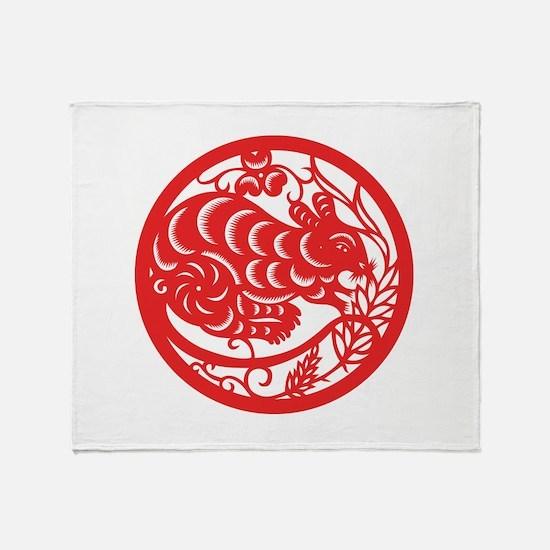 Rat Zodiac Throw Blanket