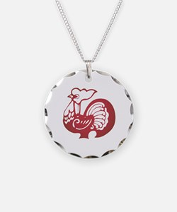 Rooster Zodiac Necklace