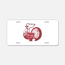 Rooster Zodiac Aluminum License Plate