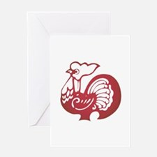 Rooster Zodiac Greeting Card