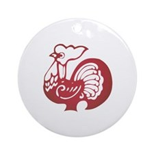 Rooster Zodiac Ornament (Round)