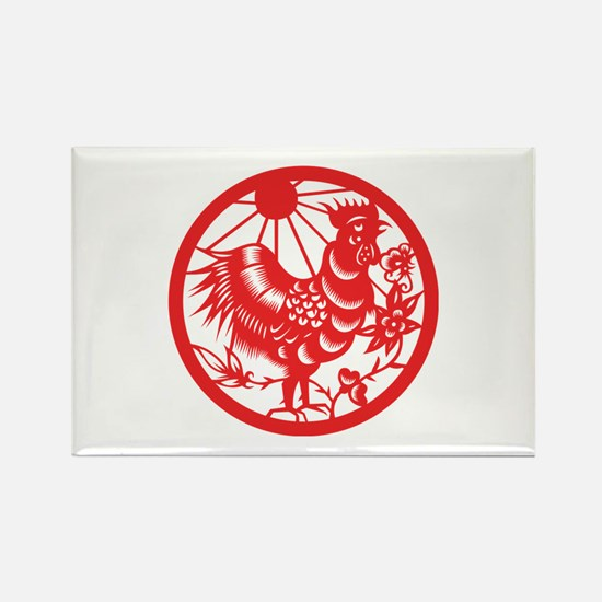 Rooster Zodiac Rectangle Magnet (100 pack)