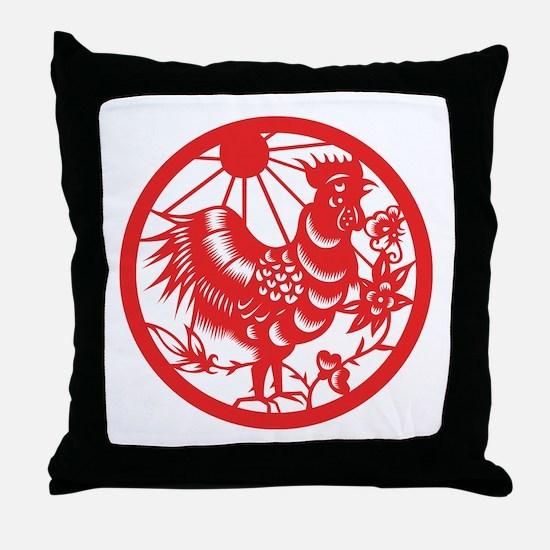 Rooster Zodiac Throw Pillow