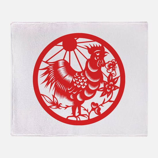 Rooster Zodiac Throw Blanket