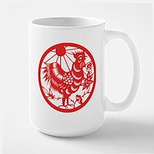Rooster Zodiac Large Mug