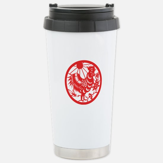 Rooster Zodiac Stainless Steel Travel Mug