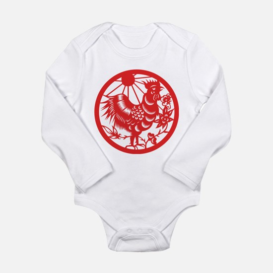 Rooster Zodiac Long Sleeve Infant Bodysuit