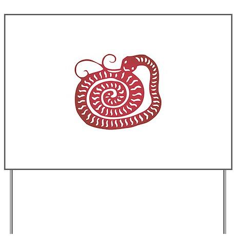 Snake Zodiac Yard Sign