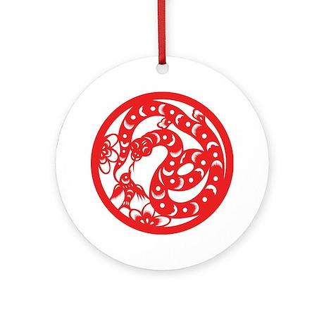 Snake Zodiac Ornament (Round)