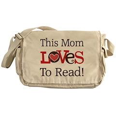 Mom Loves To Read Messenger Bag