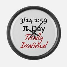 Pi Day Totally Irrational Large Wall Clock