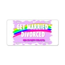 get married divorced and live Aluminum License Pla