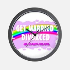 get married divorced and live Wall Clock