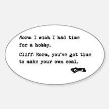 'Cheers Quote' Sticker (Oval)
