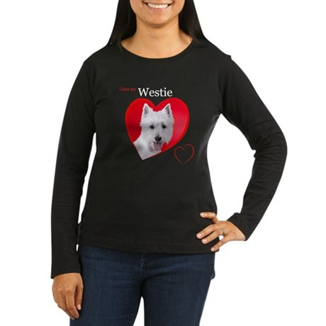 Westie Women's Long Sleeve Dark T-Shirt