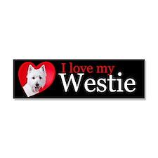 Westie Car Magnet 10 x 3