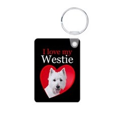 Westie Aluminum Photo Keychain