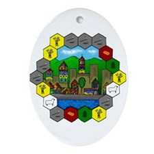 Funny Settlers Ornament (Oval)